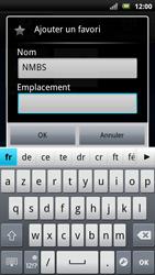 Sony Ericsson Xperia Neo - Internet - navigation sur Internet - Étape 9