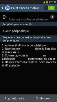 Samsung Galaxy Note 3 - Internet et connexion - Partager votre connexion en Wi-Fi - Étape 11