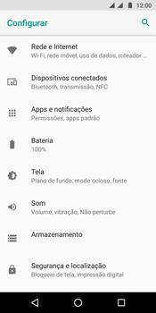 Motorola Moto G6 Plus - Rede móvel - Como selecionar o tipo de rede adequada - Etapa 4