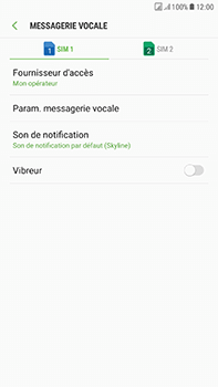 Samsung Galaxy J7 (2017) - Messagerie vocale - Configuration manuelle - Étape 8