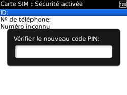 BlackBerry curve 3G - Sécuriser votre mobile - Personnaliser le code PIN de votre carte SIM - Étape 10