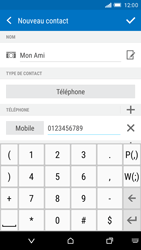 HTC One M9 - Contact, Appels, SMS/MMS - Ajouter un contact - Étape 8
