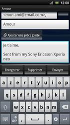 Sony Ericsson Xperia Neo V - E-mail - envoyer un e-mail - Étape 8