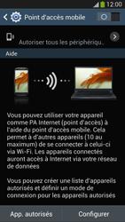 Samsung Galaxy S4 - Internet et connexion - Partager votre connexion en Wi-Fi - Étape 10