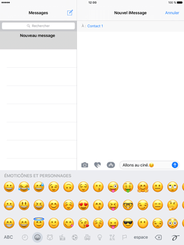 Apple iPad Pro 9.7 - iOS 10 - iOS features - Envoyer un iMessage - Étape 15