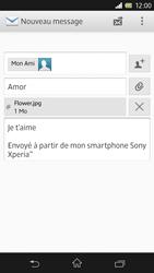 Sony C6603 Xperia Z - E-mail - Envoi d