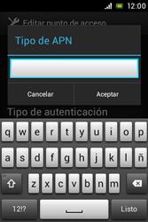 Sony Xperia E - Mensajería - Configurar el equipo para mensajes multimedia - Paso 14