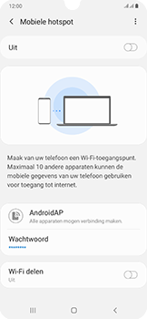 Samsung Galaxy A50 - Internet - mijn data verbinding delen - Stap 11