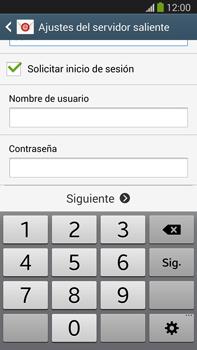 Samsung Galaxy Note 3 - E-mail - Configurar correo electrónico - Paso 13