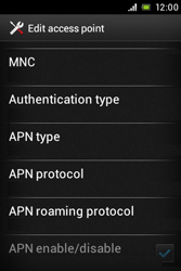 Sony ST23i Xperia Miro - Mms - Manual configuration - Step 14