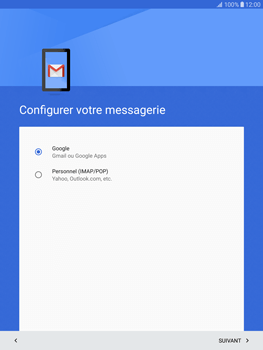Samsung T815 Galaxy Tab S2 9.7 - E-mail - Configuration manuelle (gmail) - Étape 9