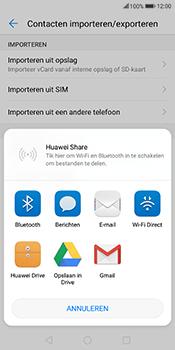 Huawei Mate 10 Lite (Model RNE-L21) - Contacten en data - Contacten overzetten via Bluetooth - Stap 8