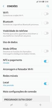 Samsung Galaxy S8 Plus - Internet no telemóvel - Como ativar os dados móveis -  5