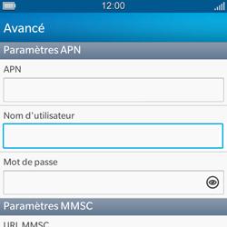 BlackBerry Q5 - MMS - configuration manuelle - Étape 10