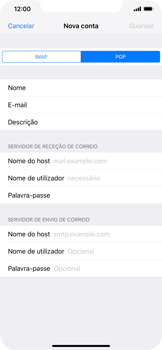 Apple iPhone XS Max - Email - Configurar a conta de Email -  12