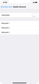 Apple iPhone X - iOS 12 - Network - Manually select a network - Step 6