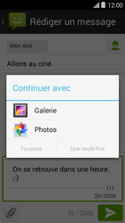 Bouygues Telecom Ultym 5 II - Contact, Appels, SMS/MMS - Envoyer un MMS - Étape 14