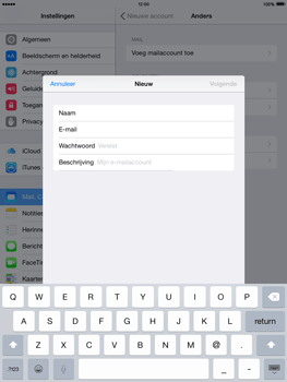 Apple iPad mini iOS 8 - E-mail - Handmatig instellen - Stap 8