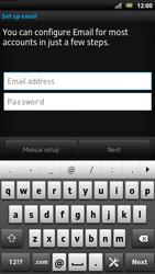 Sony LT22i Xperia P - E-mail - Manual configuration - Step 5