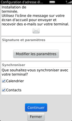 BlackBerry 9860 Torch - E-mail - Configuration manuelle - Étape 10