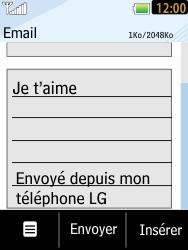 LG T385 - E-mails - Envoyer un e-mail - Étape 9