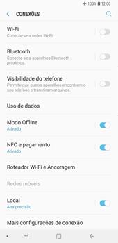 Samsung Galaxy S9 Plus - Rede móvel - Como ativar e desativar o modo avião no seu aparelho - Etapa 6
