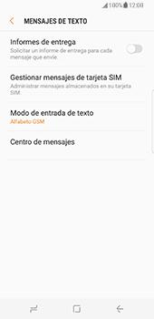 Samsung Galaxy S8 - Mensajería - Configurar el equipo para mensajes de texto - Paso 8