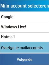 Samsung C3300K - E-mail - Handmatig instellen - Stap 12
