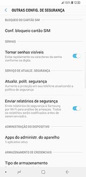 Samsung Galaxy S9 Plus - Segurança - Como ativar o código PIN do cartão de telemóvel -  6