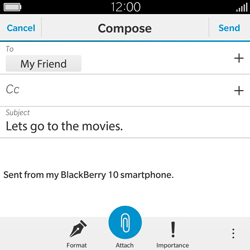 BlackBerry Classic - Email - Sending an email message - Step 11
