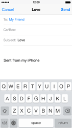 Apple iPhone 5 iOS 7 - Email - Sending an email message - Step 7