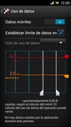 Sony Xperia J - Internet - Ver uso de datos - Paso 11