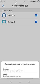 Huawei P20 Pro Dual-SIM (Model CLT-L29) - Contacten en data - Contacten kopiëren van SIM naar toestel - Stap 8