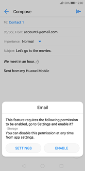 Huawei P Smart - E-mail - Sending emails - Step 12