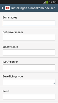 Samsung N9005 Galaxy Note III LTE - E-mail - Account instellen (IMAP zonder SMTP-verificatie) - Stap 8