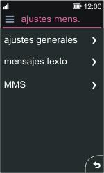 Nokia Asha 311 - Mensajería - Configurar el equipo para mensajes de texto - Paso 5