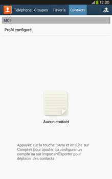 Samsung Galaxy Tab 3 8 4G - Contact, Appels, SMS/MMS - Ajouter un contact - Étape 4