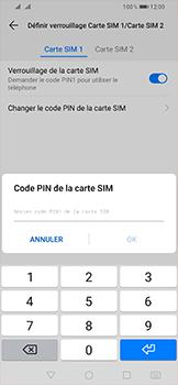Huawei P Smart (2019) - Sécurité - modifier SIM PIN - Étape 9