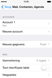 Apple iPhone 4s iOS 8 - E-mail - Account instellen (POP3 zonder SMTP-verificatie) - Stap 25