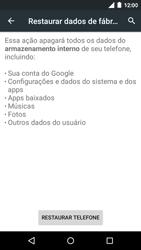 Motorola Moto G (3ª Geração) - Funções básicas - Como restaurar as configurações originais do seu aparelho - Etapa 8