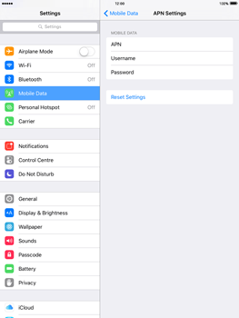 Apple iPad Air iOS 9 - Internet - Manual configuration - Step 6