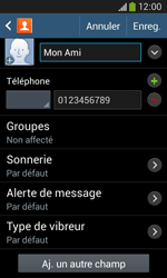 Samsung Galaxy Ace 3 - Contact, Appels, SMS/MMS - Ajouter un contact - Étape 11