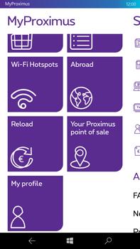 Microsoft Lumia 950 XL - Applications - MyProximus - Step 17
