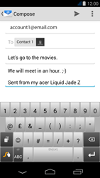 Acer Liquid Jade Z - Email - Sending an email message - Step 9
