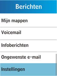 Samsung C3300K - Voicemail - Handmatig instellen - Stap 4