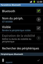 Samsung S6500D Galaxy Mini 2 - Bluetooth - connexion Bluetooth - Étape 10