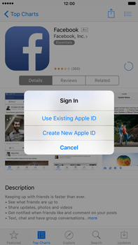 Apple iPhone 6 Plus iOS 9 - Applications - Create an account - Step 8