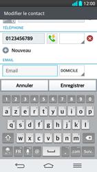 LG G2 - Contact, Appels, SMS/MMS - Ajouter un contact - Étape 9