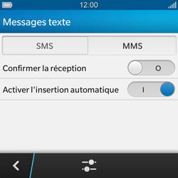 BlackBerry Q10 - SMS - Configuration manuelle - Étape 6