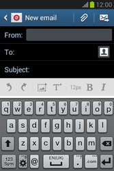 Samsung S6790 Galaxy Fame Lite - Email - Sending an email message - Step 5